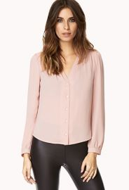 Dusty Rose Blouse at Forever 21