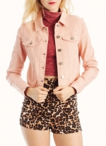 Dusty pink denim jacket from Go Jane at Go Jane
