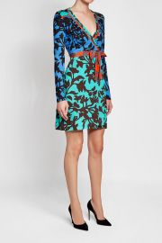 DvF Printed Wrap Dress at Stylebop