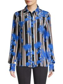 DvF Striped floral shirt at Saks Fifth Avenue