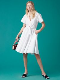 DvF Short Sleeve Collared Shirt Dress at DvF
