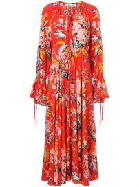 Dvf Diane Von Furstenberg Bethany Cinch Sleeve Maxi Dress - Farfetch at Farfetch