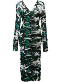 Dvf Diane Von Furstenberg Camille Mesh Overlay Midi Dress at Farfetch