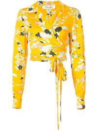 Dvf Diane Von Furstenberg Floral Print Wrap Blouse - Farfetch at Farfetch