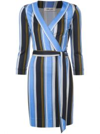 Dvf Diane Von Furstenberg Sussex Stripe Wrap Dress at Farfetch