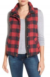Dylan Buffalo Check Vest at Nordstrom