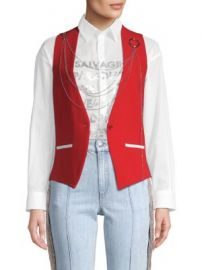 EACH X OTHER - Chain Button-Front Vest at Saks Fifth Avenue