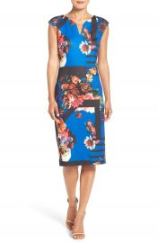 ECI Print Scuba Midi Dress at Nordstrom