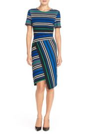 ECI Stripe Ottoman Knit Sheath Dress at Nordstrom