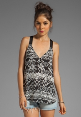 EIGHT SIXTY New Mexico Tank in Black at Revolve