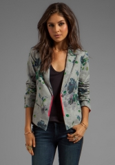 ELIZABETH AND JAMES Bourne Jacket in Light Heather Grey at Revolve