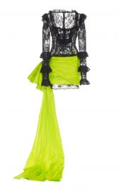 EMBELLISHED CHANTILLY LACE MINI DRESS dundas at Moda Operandi