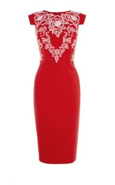 EMBROIDERED PENCIL DRESS at Karen Millen
