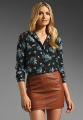 EQUIPMENT Ava Flowering Lilac Blouse in Black at Revolve