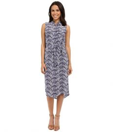EQUIPMENT Tegan Dress Ultra Marine at 6pm