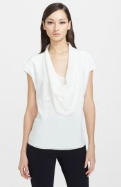 ESCADA Draped Silk Tee at Nordstrom