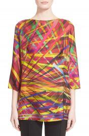 ESCADA LA Lights Print Silk Tunic at Nordstrom
