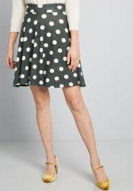 Earned Ease Knit Skater Skirt at ModCloth