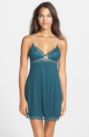 Eberjey and39Everlyand39 Brushed Jersey Racerback Chemise at Nordstrom