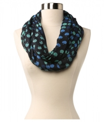 Echo Design Vintage Apples Loop Scarf Navy at Zappos