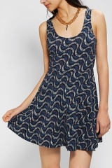 Ecote Boho Print Knit Skater Dress at Urban Outfitters