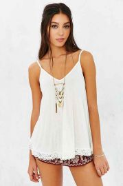 Ecote Chasing Waterfalls Crochet Tank Top at Urban Outfitters