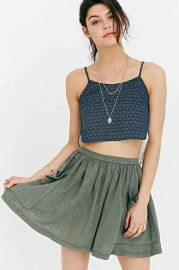 Ecote Debbie Pocket Mini Skirt at Urban Outfitters