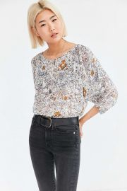 Ecote Floral Pintucked Dolman Blouse at Urban Outfitters