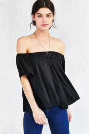 Ecote Mara Off-The-Shoulder Top in Black at Urban Outfitters