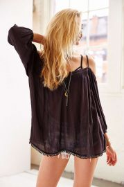 Ecote Peasant Cold Shoulder Blouse at Urban Outfitters