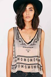 Ecote Piper Deep-V Tank Top at Urban Outfitters