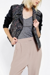 Ecote Tapestry Mix Moto Jacket at Urban Outfitters