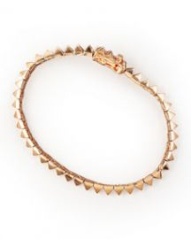 Eddie Borgo Rose Gold Pyramid Tennis Bracelet at Neiman Marcus