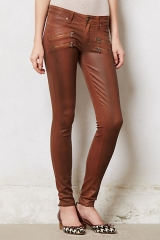 Edgemont leather coated jeans at Anthropologie