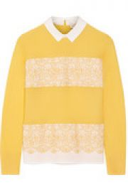 Edwina merino wool and stretch-cotton poplin sweater at The Outnet