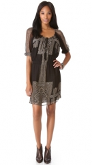 Egyptian print dress by Cynthia Vincent at Shopbop
