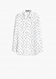 Eiffel tower print shirt at Mango