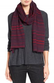 Eileen Fisher Stripe Merino Wool Jersey Scarf at Nordstrom