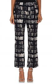 Eko Book-Print Stretch-Silk Pants by Zero + Maria Cornejo at Barneys