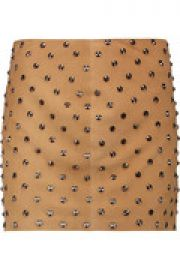 Elana studded suede mini skirt at The Outnet