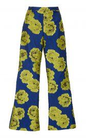 Electric Floral Brocade Pants  by Christian Siriano at Moda Operandi