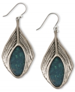 Elenas Lucky Brand feather earrings at Macys