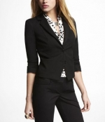 Elena's black blazer from Express at Express