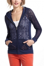 Elena's lace cardigan from Anthropologie at Anthropologie