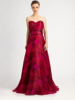 Elena's pink prom dress at Saks Fifth Avenue