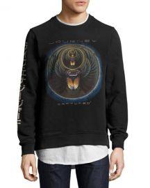 Eleven Paris Journey Captured Sweatshirt  Black at Neiman Marcus