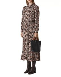 Elfrida Snakeskin-Printed Dress at Bloomingdales