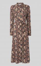 Elfrida Snakeskin-Printed Dress by Whistles at Whistles