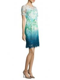 Elie Tahari - Laced Organdy Mini Dress at Saks Fifth Avenue