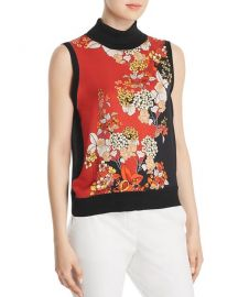 Elie Tahari Abigail Silk Sleeveless Turtleneck at Bloomingdales